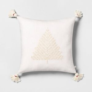 Hearth & Hand Embroidered Tree Toss Pillow